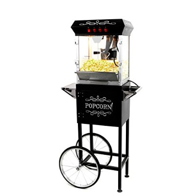 Paramount 6oz Popcorn Maker Machine & Cart - New Upgraded Feature-Rich 6 oz Hot Oil Popper [Color:...
