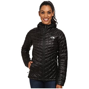 The North Face ThermoBall Hoodie Jacket 女性のフーディー断熱ジャケット(ブラック) (S)