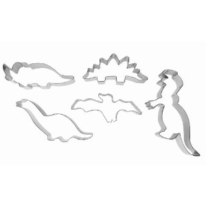 Ibili 723600セット5 TinプレートCookie Cutters Dinosaurus