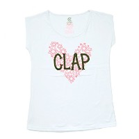 CLAP(クラップ)CF-HEART STRETCH TEE 当店限定