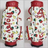 noisy noisy by Mieko Uesako Original Fruit Pattern Caddie Bag キャディバッグ 【ゴルフ バッグ>カートバッグ】