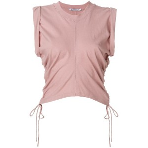 T By Alexander Wang ruched vest top - ヌード&ナチュラル