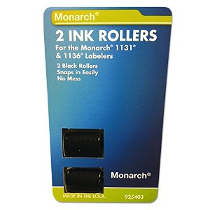 925403 Replacement Ink Rollers, Black, 2/Pack (並行輸入品)