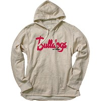 NCAAレディースFrench Terry Pullover Hoodie with Applique M グレイ