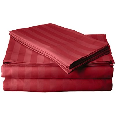 (Full, Burgundy) - Elegant Comfort 1 Bed Sheet Set on Amazon - Super Silky Soft - 1500 Thread Count...