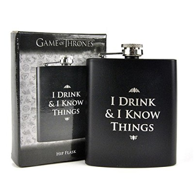 "Game of Thrones Flask""I DRINK & I KNOW THINGS"""
