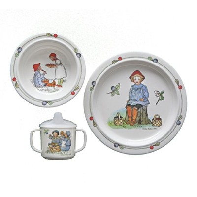ピーター・inブルーベリーLand dish set by Elsa Beskow