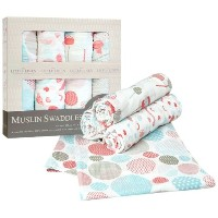 Little Linen Company Muslin Swaddle - Candy by The Little Linen Company