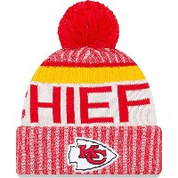 New Era Kansas City Chiefs NFL Sideline On Field 2017 Sport Knit Beanie Beany