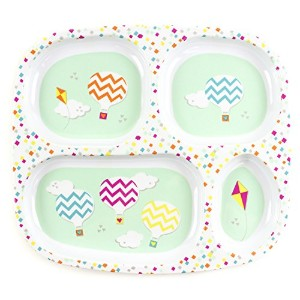 Bumkins Melamine Divided Plate, Balloons by Bumkins