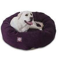 40 inch Aubergine Villa Collection Micro Velvet Bagel Dog Bed By Majestic Pet Products by Majestic...