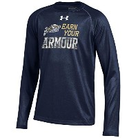 ユースunder armour Naval Academy海軍Tech Long Sleeve Tee
