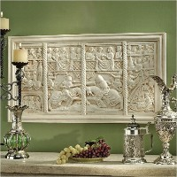 Design Toscano The Medieval Joust Sculptural Wall Frieze by Design Toscano [並行輸入品]