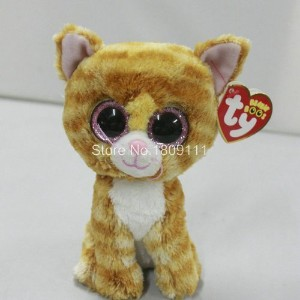 IN HAND NEW TY BEANIES BOOS SERIES STUFFED ANIMAL BIG EYES eyes ~~Tabitha The cat~15cm Cute Plush...