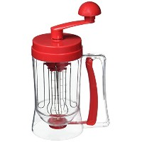 Pancake Batter Dispenser With hand-crank Whisk蓋、NO DRIP Pourer and measurements- Perfect for...