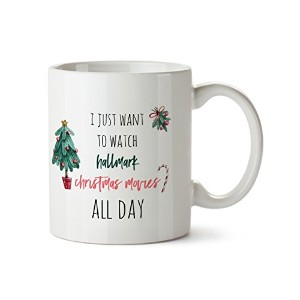 WatchingムービーAll Day Funny Holiday Wish磁器コーヒーマグ- 11 oz- Best新しい年ギフト