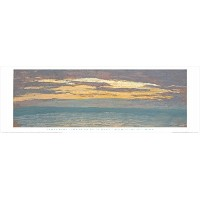 View of the Sea at Sunset byクロード・モネ12x 36アートプリントポスター有名なペイントLandscape Ocean Sunset