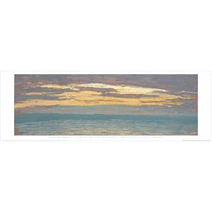 View of the Sea at Sunset byクロード・モネ12 x 36アートプリントポスター有名なペイントLandscape Ocean Sunset