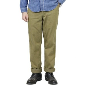 FREEWHEELERS フリーホイーラーズ M-1942 TROUSERS HBT 1940s CIVILIAN MILITARY STYLE CLOTHING HEAVY WEIGHT YARN...