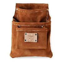 Heritage Leather   583SP 3ポケットプロフェッショナルツールポーチ(スウェードレザー) 3PKT PROFESSIONAL SUEDE LEATHER POUCH  ...