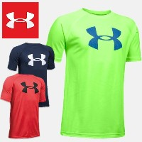 アンダーアーマー ジュニア半袖Tシャツ UNDER ARMOUR Tech Big Logo Boys Short Sleeve Shirt
