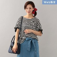 SALE【トゥー ビー シック(TO BE CHIC)】 【WEB限定】【Tricolore】デイジーボーダーカットソー オフホワイト
