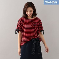 【TO BE CHIC トゥー ビー シック】 【WEB・店舗限定】【Tricolore】デイジーボーダーカットソー ピンク レディース