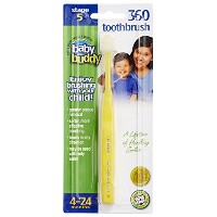 Baby Buddy 360 Toothbrush Step 1 Stage 5 for Babies/Toddlers , Kids Love Them, Yellow by Baby Buddy