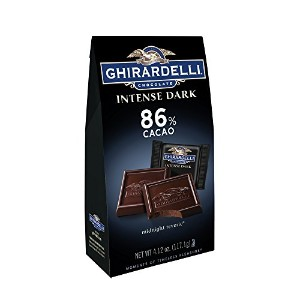 Ghirardelli Chocolate Intense Dark Squares, Midnight Reverie, 4.12 oz., (Pack of 4) by Ghirardelli