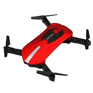 owill jd-018 2.4 G 4 CH Altitude Hold 0.3 M HDカメラWiFi FPV RCクアッドコプターポケット自撮りDrone One Size レッド...