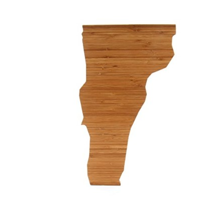 (Vermont) - Cutting Board Company Vermont Shaped Cutting Board, Bamboo Cheese Board