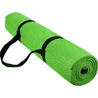 reehut 1/ 4インチ高密度–Exerciseヨガマットwith Carrying Strap for Fitness &ワークアウト グリーン