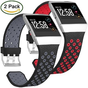 For Fitbit Ionic帯、Skylet 2パックソフト通気性アクセサリーWristbands for Fitbit Ionicブレスレットwith Buckle (トラッカーなし)