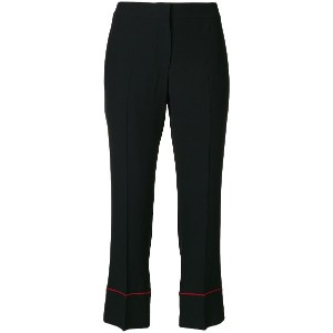 Alexander McQueen cropped trousers - ブラック