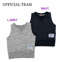オフィシャルチーム OFFICIAL TEAM 2018春夏 SWEAT VEST NAVY・L.GRAY 100-140cm 118403