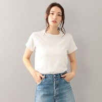 【GUILD PRIME ギルドプライム】 【RE/DONE】WOMENS Tシャツ-THE CLASSIC TEE024-2WSC1- ホワイト レディース