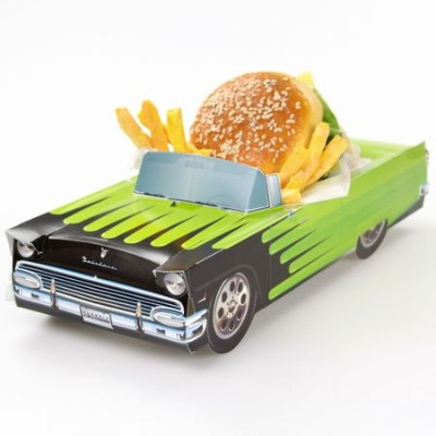 1956 Ford Fairlane Green Pacer Party Container ペーパークラフトカー・パーティーコンテナー・アメ車・アメリカ雑貨・フォード・フェアレーン・小物入れ...
