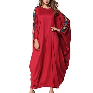 Zhhlinyuan 美しくて良い品質 Plus Size Long Sleeve Dress Middle East Abaya Malaysia Gown Robe Muslims ドレス...