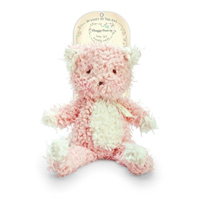 Bunnies By The Bay Shaggy Purrty Kitty Plush Toy, Pink by Bunnies by the Bay