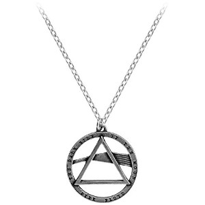 Pink Floyd Alchemy Dark Side Of The Moon Pewter Pendant Silver