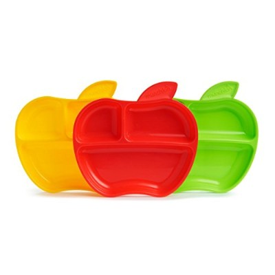 Munchkin Lil' Apple Plates, 3 Count by Munchkin [並行輸入品]