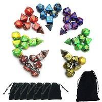 SmartDealsPro 7x 7-dieシリーズ2色Dungeons and Dragons DND RPG MTGテーブルゲームDice with Free Pouches