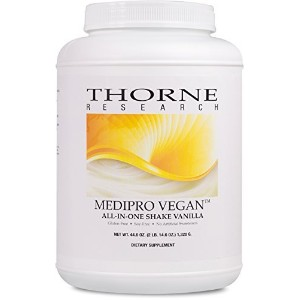 Thorne Research, Medipro Vegan, All-In-One Shake, Vanilla, 44.6 oz (1,320 g) 海外直送品