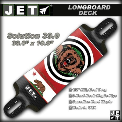 JET SKATEBOARDS デッキ Solution 39.0 サイズ 39.0×10.0 【ジェット ロングスケートボード ロンスケ】【日本正規品】715005