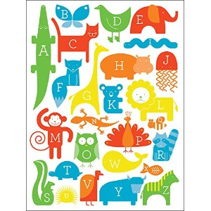 "Oopsy Daisy Fine Art for Kids ABC Animalia Primaryキャンバス壁アートbyアンパサンドデザインStudio 18 x 24"" NB21126"