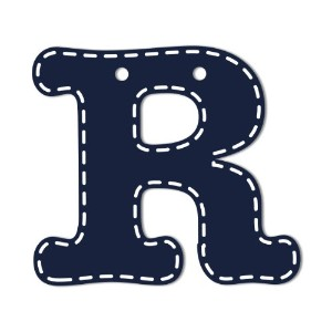 CoCaLo Mix & Match Navy Hanging Letters, R by Cocalo