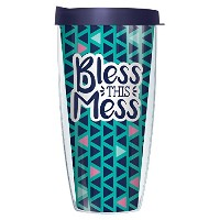 Bless This Mess 16オンスマグタンブラーカップwith Navy蓋 22oz