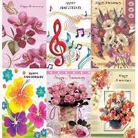 Assorted Happy Anniversary Greeting Cards in a Bulk 12 Pack by Kaleidoscope