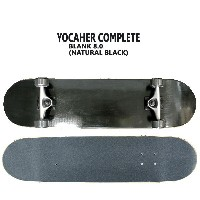 YOCAHER コンプリートスケートボード/スケボー BLANK COMPLETE SKATEBOARD NATURAL BLACK 8.0 スケボー 完成品 SK8