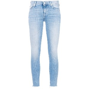 7 For All Mankind クロップド スキニージーンズ - ブルー